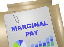 Marginaal betaal concept stock illustratie
