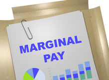 Marginal Pay concept Royalty Free Stock Images
