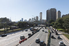 Marginal Pinheiros highway royalty free stock images