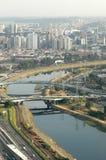 Marginale Pinheiros - São Paulo Royalty-vrije Stock Foto's