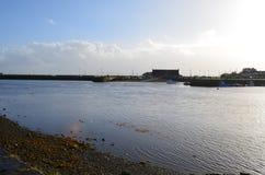 Marginaler av floden Corrib i Galway, Irland arkivfoton