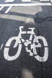 Margine di profitto della strada di modo della bicicletta su asfalto immagini stock libere da diritti