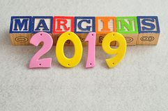 2019 marginesów Obrazy Royalty Free