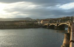 Margit Bridge. In Budapest, Hungary Stock Photos