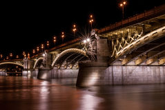 Margit bridge in Budapest Royalty Free Stock Image