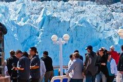 Margorie冰川在阿拉斯加 免版税库存照片