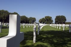 Netherlands American Cemetery Royalty Free Stock Photography