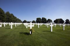 Netherlands American Cemetery Stock Photography
