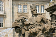 Margrave fountain Bayreuth Stock Image