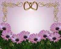 Marguerite d'invitation de mariage florale Image libre de droits
