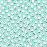 Marguerites blanches de modèle floral mignon de ressort sur la menthe illustration stock
