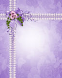 Marguerites de lavande d'invitation de mariage Photographie stock libre de droits