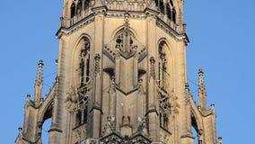 Mariä-Empfängnis-Dom akakathedraal van Dom van Onbevlekte Ontvangenisneuer in Linz Boven-Oostenrijk stock video