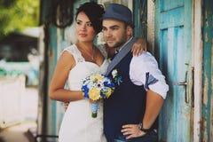 Marié de jeune mariée de vintage Image libre de droits
