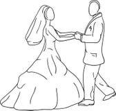 Marié de mariée Photographie stock libre de droits