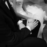 marié et jeune mariée élégants d'engagement Photos stock
