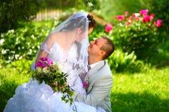 Marié et jeune mariée Photographie stock