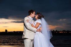 Marié et jeune mariée Image libre de droits