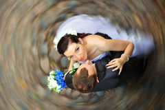 Marié et jeune mariée Photo libre de droits