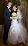 Marié et jeune mariée Photographie stock libre de droits