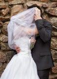 marié et la mariée au palais Image libre de droits