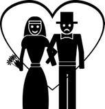 Marié et mariée Image stock