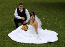 Marié et mariée Photos libres de droits