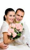 Marié et mariée de verticale image stock
