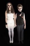 Marié et mariée - zombi Images libres de droits