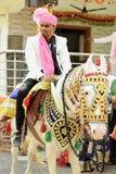 Marié indien avec le cheval photos libres de droits
