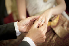 Anneau de mariage Photo stock