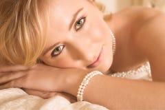 Mariée aux yeux verts Images libres de droits