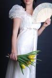 Mariée avec des tulipes Photos stock