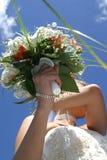 Mariée avec le bouquet Image libre de droits
