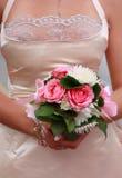Mariée avec le bouquet de mariage Images stock
