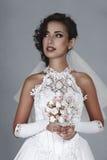 Mariée avec le bouquet de mariage Images libres de droits