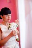 Mariée avec le voile Images stock