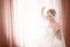 Mariée avec le voile Images libres de droits