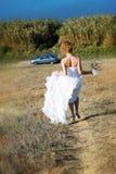 Mariée d'emballement Photographie stock libre de droits