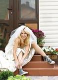 Mariée d'emballement Photos stock