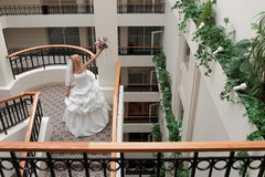 Mariée dans la rampe Image libre de droits
