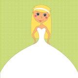 Mariée dans la robe blanche à l'invitation de mariage Photo libre de droits