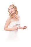 Mariée dans la robe blanche Image libre de droits
