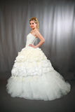 Mariée dans la robe de mariage. Photographie stock