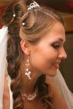 Mariée dans la robe de mariage photographie stock