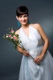 Mariée dans la robe de mariage Photo stock