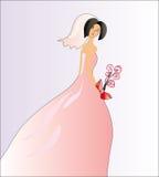Mariée dans le rose Photo stock