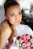 Mariée dans le véhicule Photo libre de droits