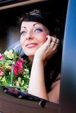 Mariée dans un véhicule Photos libres de droits