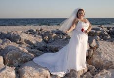 Mariée de plage Images libres de droits